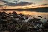 Sunset over Loch Rannoch (jasonmgabriel) Tags: sunset loch lake scotland scenery rocks clouds water mountain reflection