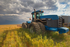 *** (artvbal) Tags: farm tractor power montana unitedstates ford versatile9680 rural grass clouds hdr machinery agriculture mt wind photoart artwork topaz painterly summer 2017