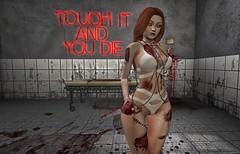 ♚ Look #464 ♚ (Caity Saint) Tags: secretposes darkness redhead catwa maitreya sl secondlife cranked backdrop suicidedollz scandalize