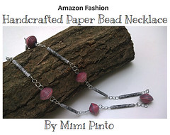 mimi pinto paperbead necklace (MimiPintoArt) Tags: handmade bespoke necklace paper beads gift idea first anniversary