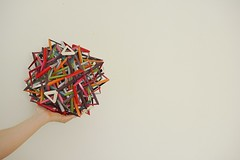 Incomprehensible (Byriah Loper) (Byriah Loper) Tags: origami origamimodular modularorigami modular byriahloper byriah compound complex copypaper stardream paperfolding paper polygon polyhedron