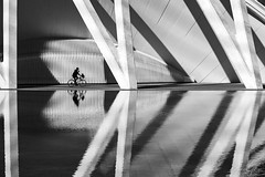 Valence reflections (Andrés Gallego) Tags: valencia valence spain españa street streetphoto city art sciences cityofartsandsciences nikon d750 tamron 2470 2470mm bw black blackandwhite