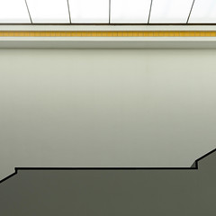 Light, walls, stairs & yellow tiles (Erik Schepers) Tags: composition museum gallery minimal minimalism thehague netherlands architecture architect light travel wanderlust shadow yellow stairs trap gemeentemuseum