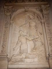 Church of St Médard: bas relief of the Archangel Michael (John Steedman) Tags: church stmédard église kirche jardindesplantes フランス france frankreich frankrijk francia parigi parijs 法国 パリ 巴黎