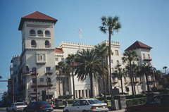 St. Augustine  Florida - Casa Monica Hotel - Historic Hotels of America (Onasill ~ Bill Badzo) Tags: st augustine fl florida casa monica cordova unitedstates oldest national trust preservation 1888 victorian architecture style moorish concrete stucco revival kessler collection johns county woodwork lobby onasill nrhp register palm trees courthouse historic state flagpost lightning rod vintage old photo flagler historictown settlement holiday vacation ravel