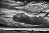 Galway-Bucht (efgepe) Tags: 2018 irland lightroom mai pentaxk1 galway galwaybucht wolken clouds strand ufer meer see sea bw sw schwarzweiss schwarzundweiss blackwhite silverefexpro nik bishopsquarter ballyvaughan