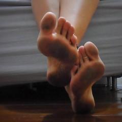 ft (paulswentkowski1983) Tags: dirty feet soles female street calloused calliused pitch black
