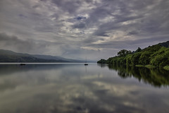 Llyn Tegid (gmorriswk) Tags: 06softndgrad 30 formatthitechfirecrest waterscape landscape cloudscape clouds reflections reflection longexposure snowdonia northwales lakebala