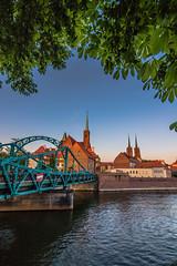 Tumski bridge (Vagelis Pikoulas) Tags: poland wroclaw travel bridge canon 6d tokina 1628mm view landscape city cityscape river colors water may spring 2018 europe urban