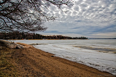 Winter's leaving (Joni Mansikka) Tags: nature spring outdoor sea shore sand ice trees clouds sky landscape sauvo suomi finland canonef24105mmf4lisusm