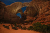 Double Arch (TWK2011) Tags: archesnationalpark moabutah doublearch starscape nightscape night landscape orange rockformation canyon sky rock stars