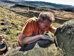 I'm trying, I'm trying!! (Mike-Lee) Tags: climb boulder boulderer bouldering peakdistrict derbyshire higgertor friends hardproblems april2018