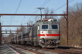 SEPTA Train #6374 @ Yardley, PA