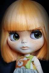 My custom #20 is ready and looking for a new home. Will be available in shop soon. #blythesecrets #customblythedoll #orangehair #rainbow #peacock (Blythe Secrets) Tags: peacock 20 orangehair blythesecrets rainbow customblythedoll