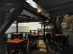 tavern on the beach..Eressos Lesvos Greece (panoskaralis) Tags: beach eressos table tavern restaurant sun sunlight sunset outdoor lesvos lesvosisland mytilene greece greek hellas hellenic nikon nikoncoolpixb700