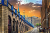 A Street (PixelRange) Tags: nikond7000 nikkor18300mm sanjaysaxena street citiscape lamps buildings road clouds sunset
