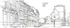 Liège, rue Delfosse (gerard michel) Tags: belgium liège rue sketch croquis