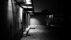Night Mood (elgunto) Tags: barcelona night street atmosphere highcontrast monochrome blackwhite bw dxofilmpack sonya7 canonfd50mm14 manuallense