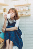_MEO9364 (Davic (N)) Tags: girl dress blue fresh short hair beautiful bread tea sad alone