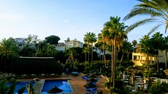 20171125_085217-EFFECTS (rugby#9) Tags: bluesky apartments apartment umbrellas water sky andalucia outdoor sunloungers poolside bridge pool trees tree complex holiday fuengirola spain costadelsol clublacosta palmtree palmtrees californiabeachresort santacruzsuites poolloungers