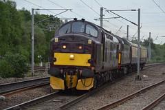 "West Coast Railway Company Class 37/5, 37685 ""Loch Arkaig"" & Class 33/0, 33029 (37190 ""Dalzell"") Tags: wcrc westcoastrailwayscompany maroondip birminghamrailwaycarriagewagonco brcwco sulzer crompton class33 class330 ee englishelectric type3 growler tractor class37 class375 33029 d6547 37685 locharkaig 37234 d6934 northwestern wigan"