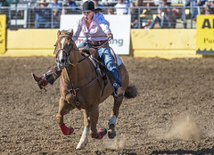 Yippee ki-yay! (acase1968) Tags: red bluff round up rodeo barrel racing female horse woman cowgirl nikkor 70200mm f28g nikon d750 cowboy hat spurs boots
