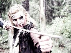 Mora 1 (George Marinakis) Tags: warrior female beauty arrow act actress vikings forest eyes