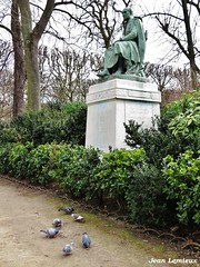 Jardin du Luxembourg (JeanLemieux91) Tags: aves pájaro oiseaux birds pigeons luxembourg statue estatua jardin arbres trees árboles fleurs flowers flores paris îledefrance france mars march marzo hiver winter invierno 2017