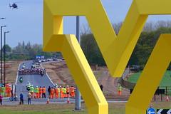 Tour De Yorkshire Women's Peloton (Yorkshire Pics) Tags: 0305 03052018 3rdmay 3rdmay2018 tourdeyorkshire stage1 tourdeyorkshirestage1 cyclerace cycleevent cyclists peloton womensrace helicopter tourdeyorkshirehelicopter