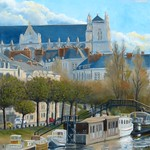 Vue de Nantes 92x73cm thumbnail