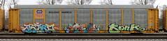 Astro/Idea/Fork (quiet-silence) Tags: graffiti graff freight fr8 train railroad railcar art autorack astro idea fork up unionpacific ttgx850760