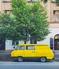 Prague (flrent) Tags: czech republic prague car minivan van bus yellow street 3 europe traban