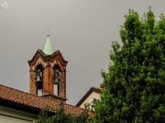 Chiesetta di Gorla. Milano (diegoavanzi) Tags: milano milan italia italy lombardia lombardy sony hx300 bridge nuvole clouds chiesa church campanile
