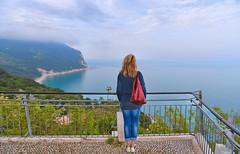 special view (poludziber1) Tags: sirolo conero marche beach sea water people blue landscape italia italy