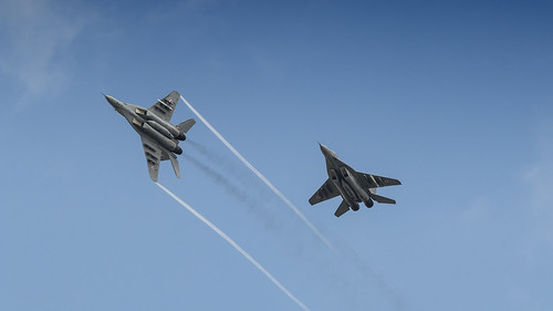 PAF MIG-29's passing over the airbase