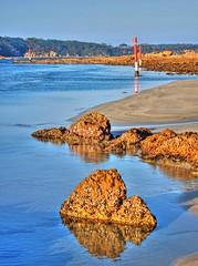 I will guide you II (elphweb) Tags: river waterway water ocean sea nsw australia hdr highdynamicrange sand sandy shore shoreline rocks rock rocky rockformation seaside