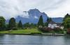 Lake Lucerne - Lucerne, Switzerland (Chris TL) Tags: lucerne lakelucerne switzerland europe tourism mountain cottage alps