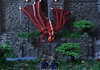 Confronting Yddreig the Red (Ben Cossy) Tags: lego dragon fantasy castle moc afol tfol knight dungeons dragons i see fire yddreig red tree bahnhof cossy