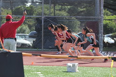 IMG_8421 (susanw210) Tags: track running trackandfield teamwork atheletes students highschool team jumping hurdles lowell cardinals highschoolsports