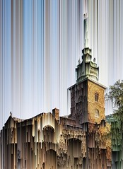 Acid rain (Мaistora) Tags: church tower belfry belltower steeple spire old antique historic city london towerhill phone mobile snapshot passingby app process play experiment effect fun painterly deformation transformation artistic creative android galaxy s8 snapseed mirrorlab