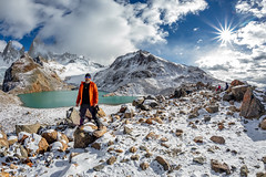 Fitz Roy e Laguna de los Tres (Valter Patrial) Tags: mountain snowcapped range peak hiker mer de glace extreme terrain hill ridge hiking glacier adventure patagonia