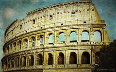 Ancient History (socalgal_64) Tags: carolynlandi old ancient history historical architecture rome roman italy italia sky stone structure stonestructure travel vacation italian culture art artistic texture europe european romancolosseum colosseum decay interesting socalphotography