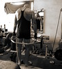 Shrug It Off (licornenoir) Tags: people man weight training home gym