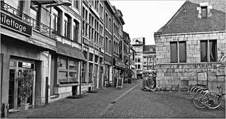 Rue de la Goffe et la Halle aux viandes, Liège Belgium