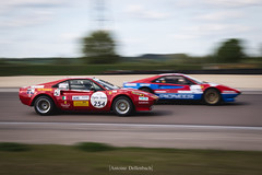 Duel of Ferrari 308 Group IV Michelotto (antoinedellenbach.com) Tags: worldcars car race racing circuit france motorsport eos automotive automobiles automobile racecar sport course lightroom coche photography photographie vintage historic tourauto peterauto optic2000 auto canon legend tourauto2018 ferrari 308 michelotto group4 conversion panning 6d 70200