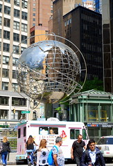 Globe sculpture, Columbus Circle, New ork City, USA. (Roly-sisaphus) Tags: nyc thebigapple unitedstatesofamerica