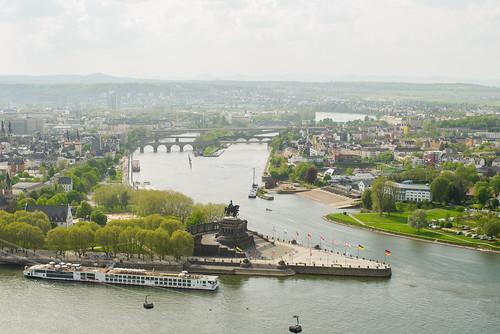 Koblenz. Deutsches Eck