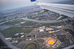 Meadowlands from Thousands of Feet Beyond Your Planet. (Teddy Alfrey) Tags: meadowlands new jersey newyorkcity ballpark airplane