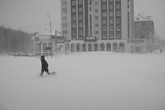 DSC02963 (Oleg Green (lost)) Tags: province snow storm morning monday spring april vyatka kirov people russia raw voigtlander nokton 1550 a7