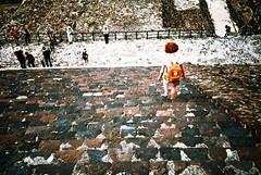 Teotihuacan (cranjam) Tags: lomography lomo lca film expired slide xpro kodak elitechrome100 mexico messico teotihuacan unesco worldheritagesite teotihuacán pyramid piramide mesoamerican mum mamma angela steps scalini gradini ruins rovine